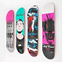 Andy Warhol (After) Skateboard Decks, Set of 4