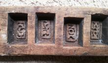 Old wooden biscuit mould