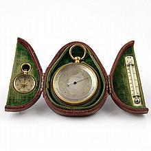 Short & Mason Barometer, Compass & Thermometer, Ca 1900