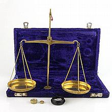 Apothecary Scales and Weights Set.