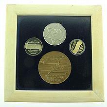 Israel Jordan Peace Agreement Coin Medal Set, 1994.