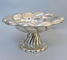 Hungarian Silver Pedestal Bowl Centerpiece, Circa 1930.