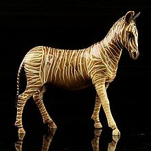 African Carved Ivory Figure of a Zebra.