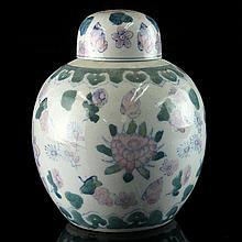 Chinese Ceramic Tea Caddy.