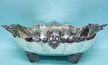 Italian Silver Fruit Bowl Centerpiece Alessandria 1950s