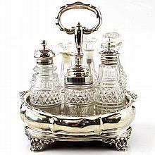 Sterling Silver Cruet Set J & J Angell London 1834