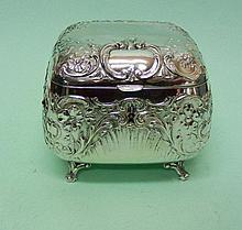 Hungarian Silver Plated Sugar Box Szandrik Circa 1900