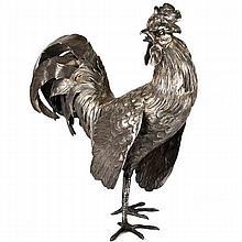 Neresheimer Silver Rooster Table Ornament Hanau Ca 1910