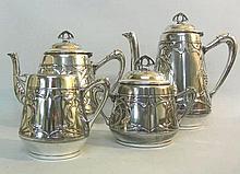 WMF Silver Plated 4pcs Tea & Coffee Set Germany Ca 1900