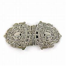 Sterling Silver Belt Buckle Wm. F. Garrud London 1892