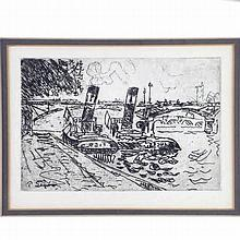Paul Signac Paris Etching and Aquatint