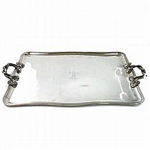 Russian Silver Plated Tray St Petersburg Circa 1835