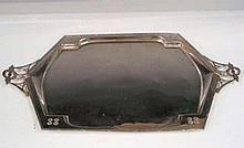 Argentor Silver Plated Serving Tray Austria Circa 1920