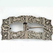 Dutch Silver Belt Buckle for Yom Kippur 19th Century