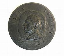 Painter Chaim Soutine Black Patinated Bronze Medal 1972