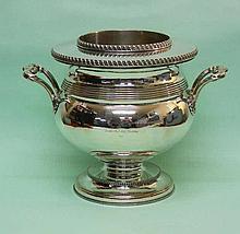 Old Sheffild Plate Wine Champagne Bottle Cooler Ca 1790