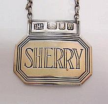 Sterling Silver Sherry Wine Label John Harvey & Sons