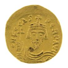 Byzantine Gold Solidus Coin, Phocas, 602-610 AD