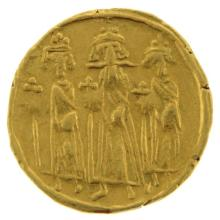 Byzantine Gold Solidus Coin, Heraclius, 610-641 AD