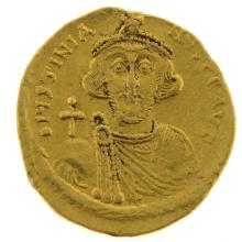 Byzantine Gold Solidus Coin, Justinian II, 685-695 AD