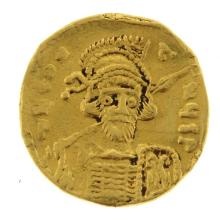 Byzantine Gold Solidus Coin, Constantine IV, 668-685 AD