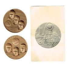 Apollo 12 and Apollo 13 Space Missions Bronze Medals.