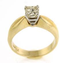 14k Yellow and White Gold & 1ct Diamond Engagement Ring