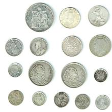 16 Silver Coins of the World.