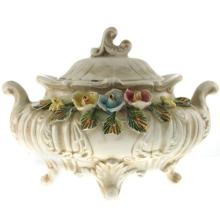 Capodimonte Porcelain Bowl and Cover.