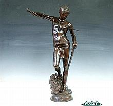 David Vainqeur Goliath Bronze Sculpture