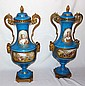SEVRES VASES, PORCELAIN AND BRONZE ORMOLOU, France