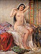 FABIO FABBI, NUDE WOMAN, ORIENTAL SCENE, oil on