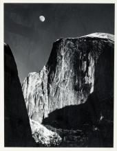 Moon and Half Dome - Original gelatin silver print