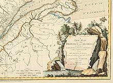 A New Map of the Province of Quebec, according to The Royal Proclamation, of the 7th of October 1763. from The French Surveys Connected with those made after the War, By Captain Carver, and other Officers, in His Majesty's Service
