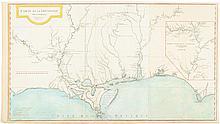 Carte De La Louisiane Par le Sr. D'Anville Dressée en Mai 1732 en 1752