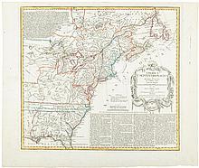 America Septentrionalis a Domino d'Anville in Galliis Edita Nunc in Anglia Coloniis in Interiorem Virginiam Deductis nec non Fluvii Ohio Cursu...