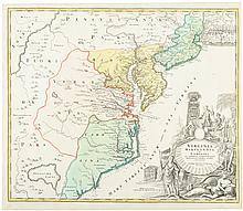 Virginia Marylandia et Carolina in America Septentrionali Britannorum industria exclutae