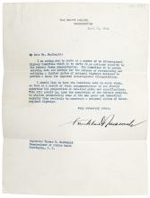 Typed Letter signed by Franklin Roosevelt to Thomas H. MacDonald