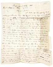 Autograph Letter Signed by Abraham Miller, to the Rev. Daniel Wells, relating his arrival at the Bassa Mission in Liberia