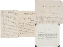 Lot of three letters to Professor Bernard Moses, relating to his service as U.S. Commissioner in the Philippines