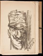 Caricatures by Enrico Caruso - 2 editions, 1 with an original charcoal caricature sketch