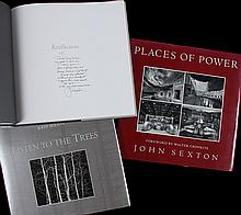 Lot of three photography books by John Sexton, two inscribed