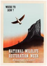 National Wildlife Restoration Week March 20-26, 1938.- poster