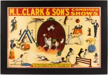 Poster for M.L. Clark & Son's Combined Shows