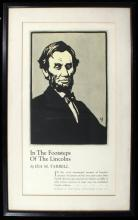 Literary Advertising Poster for In the Footsteps Of The Lincolns