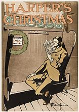 Harper's Christmas - 1897 poster by Edward Penfield