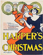 Harper's Christmas - poster illustrated by Edward Penfield