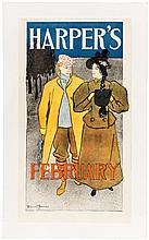 Harper's February - 1896 poster by Edward Penfield