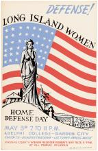 Defense! Long Island Women. Home Defense Day - poster from the New York State WPA Art Project