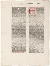 Leaf from the 1462 Fust and Schoeffer Bible